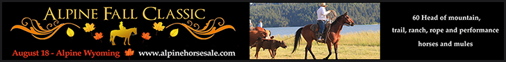 Alpine Fall Classic Horse Sale - August 18, 2018