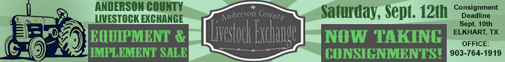 Anderson County Livestock Exchange - Equipment & Implement Sale