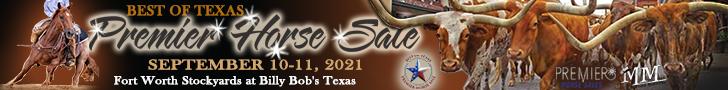 Best of Texas Premier Horse Sale - Fort Worth, TX - Sept. 10-11, 2021
