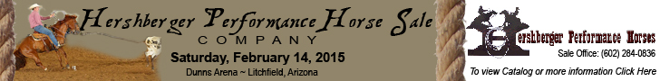 Hershberger Performance Horse Sale - Feb. 14, 2015