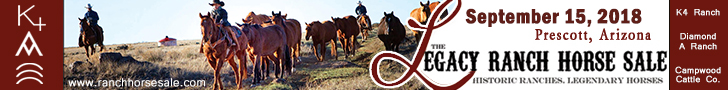 The Legacy Ranch Horse Sale - Sept. 15th, 2018