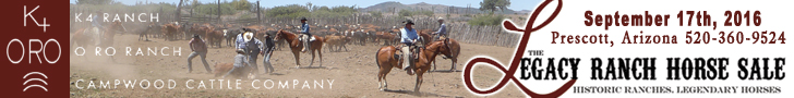 Legacy Ranch Horse Sale - Sept. 17th, 2016 - Prescott, AZ