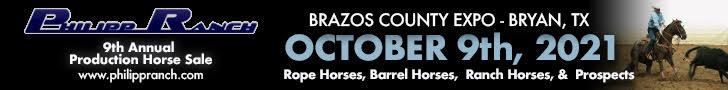 Philipp Ranch Production Horse Sale - Bryan, Texas