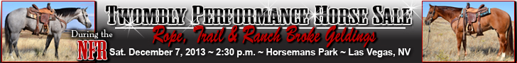 Twombly Performance Horse Sale NFR