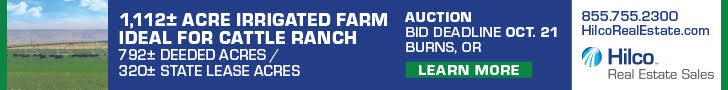 Hilco Real Estate Sales - 1112 Acre Irrigated Farm Auction - Burns, Oregon