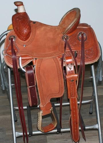 "Jays Custom 12"" Youth Ranch Roping Saddle"