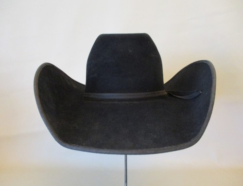 93762e1db0232 10400 Used Handmade FLINT CUSTOM 10X Black Felt Cowboy Hat Size 6 ...