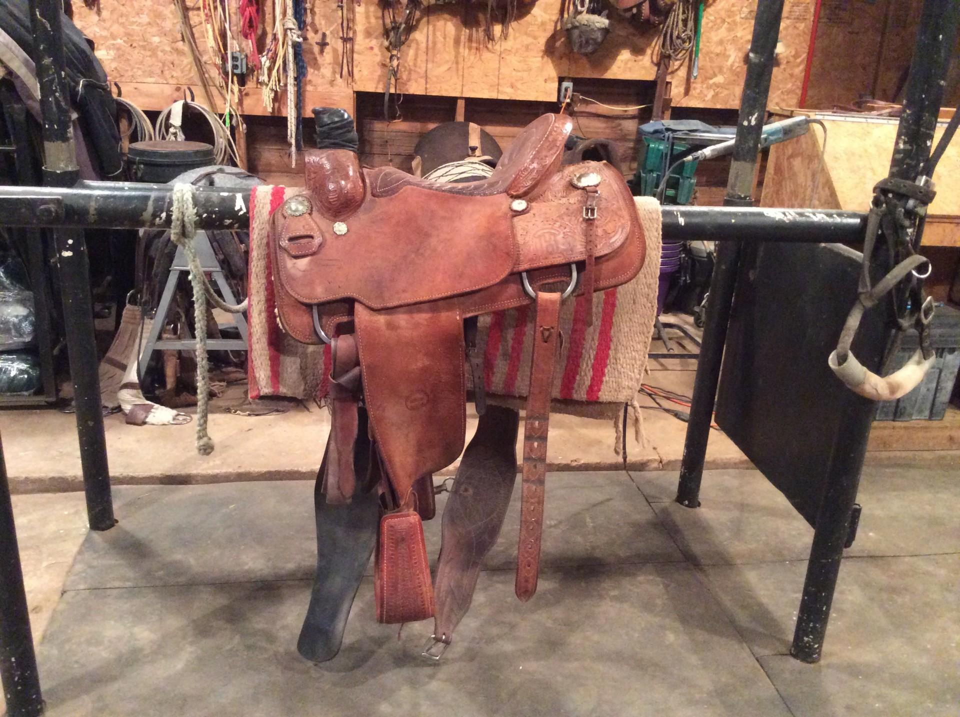 Custom made Travis McIntyre Roping Saddle