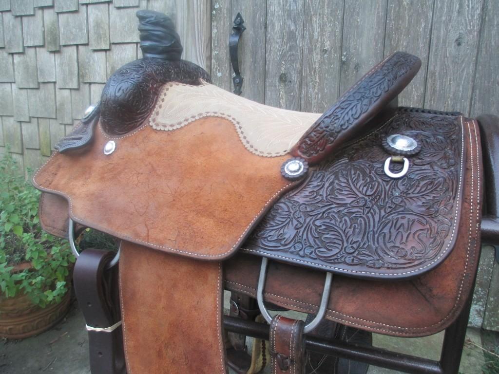D W Barnes Calf Roping Saddle Sold