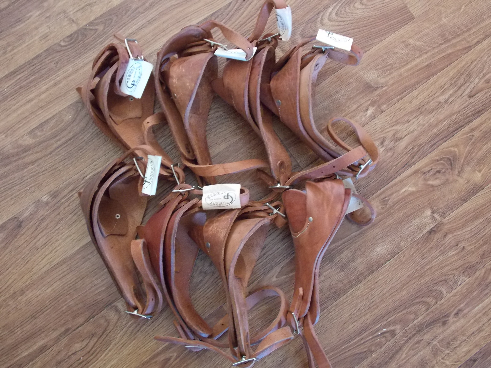 Leather Roping Cattle Horn Wraps 12