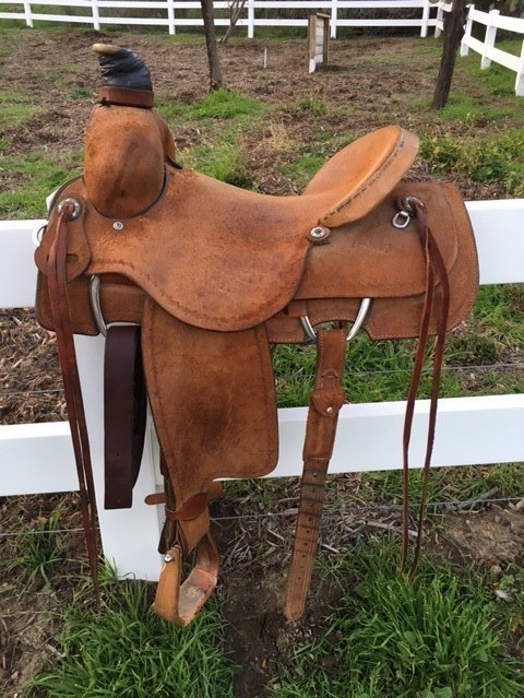 Double J Ranch Saddle Full Roughout