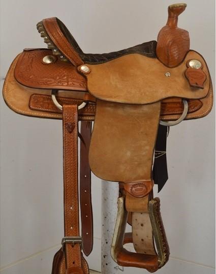 "Used 13.5"" Billy Cook Saddlery Team Roping Saddle"