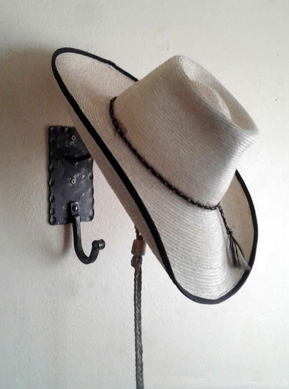 Cowboy Hat Rack Coat Hook Wall Hanger Combo