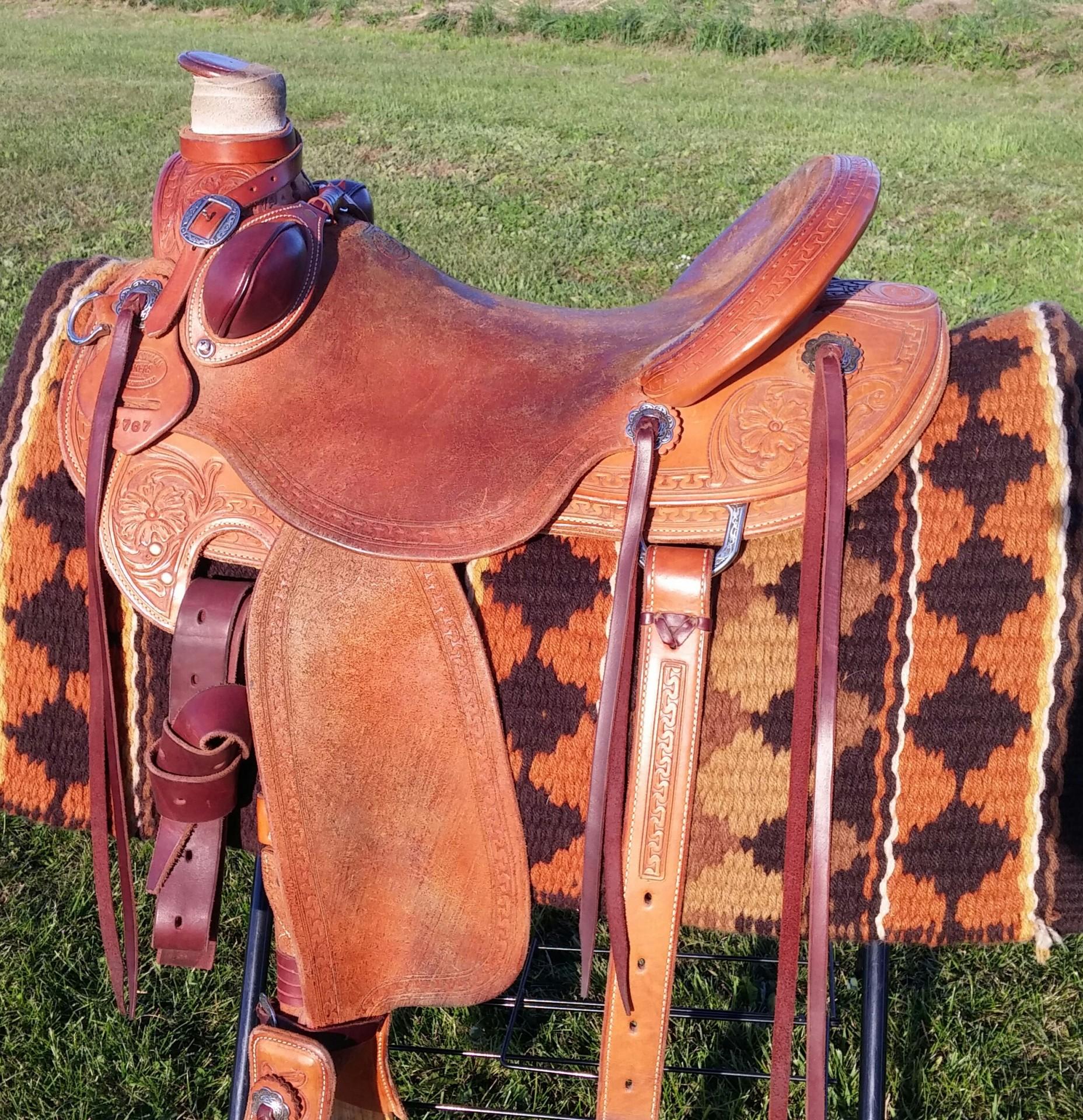 """RW Bowman Wade Style Saddle 17"""""""