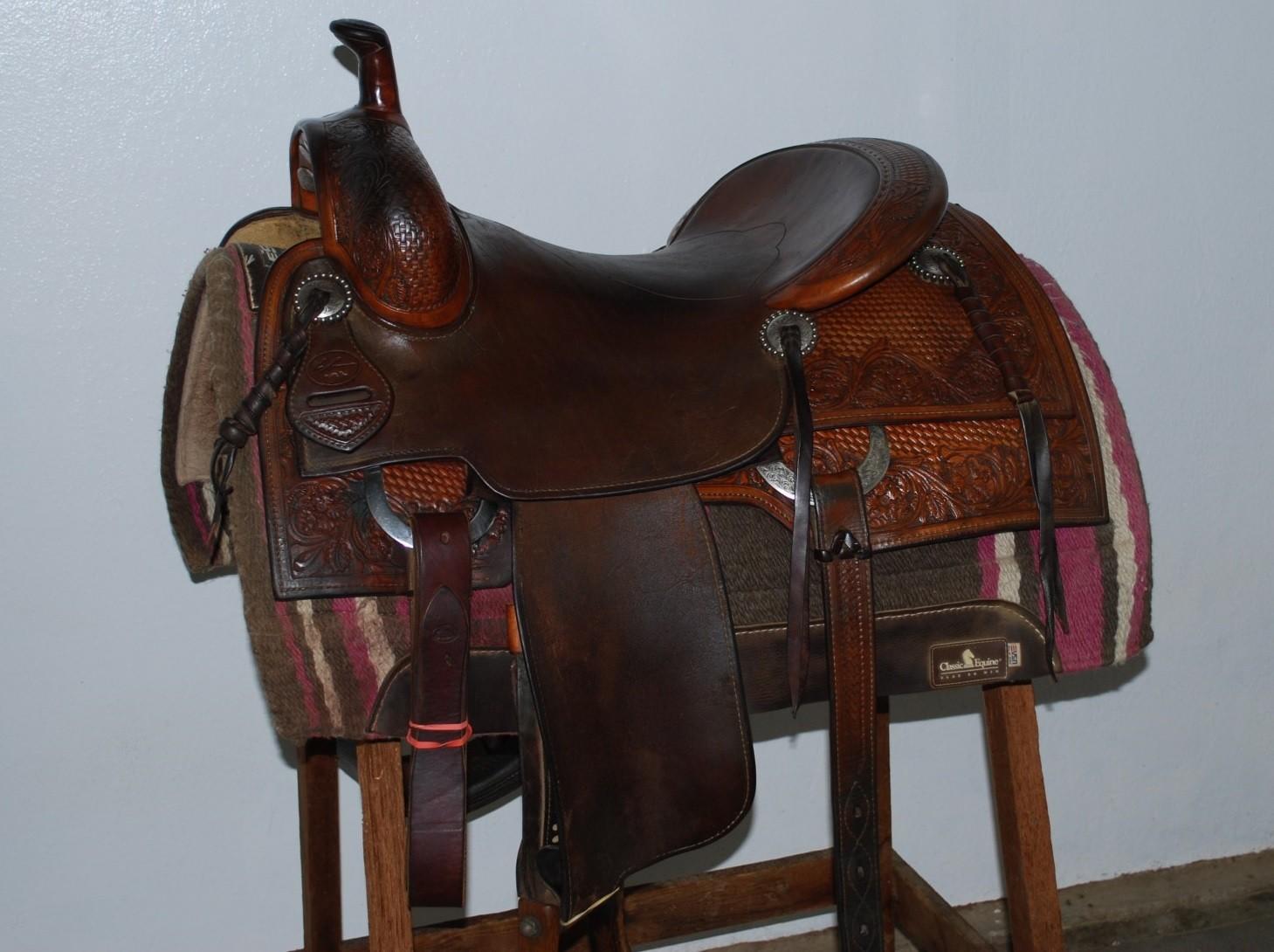 """Bob's Custom RON EMMONS Signature Cow Horse Saddle 16"""""""