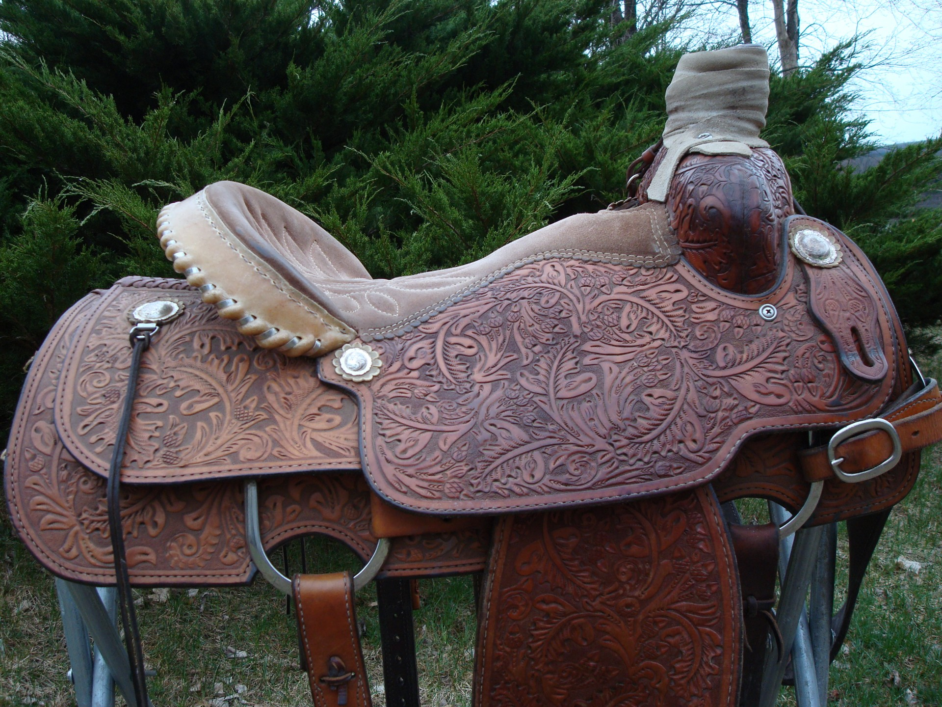 Euc Double J Team Roping Saddle 15 Quot Collar Cinches