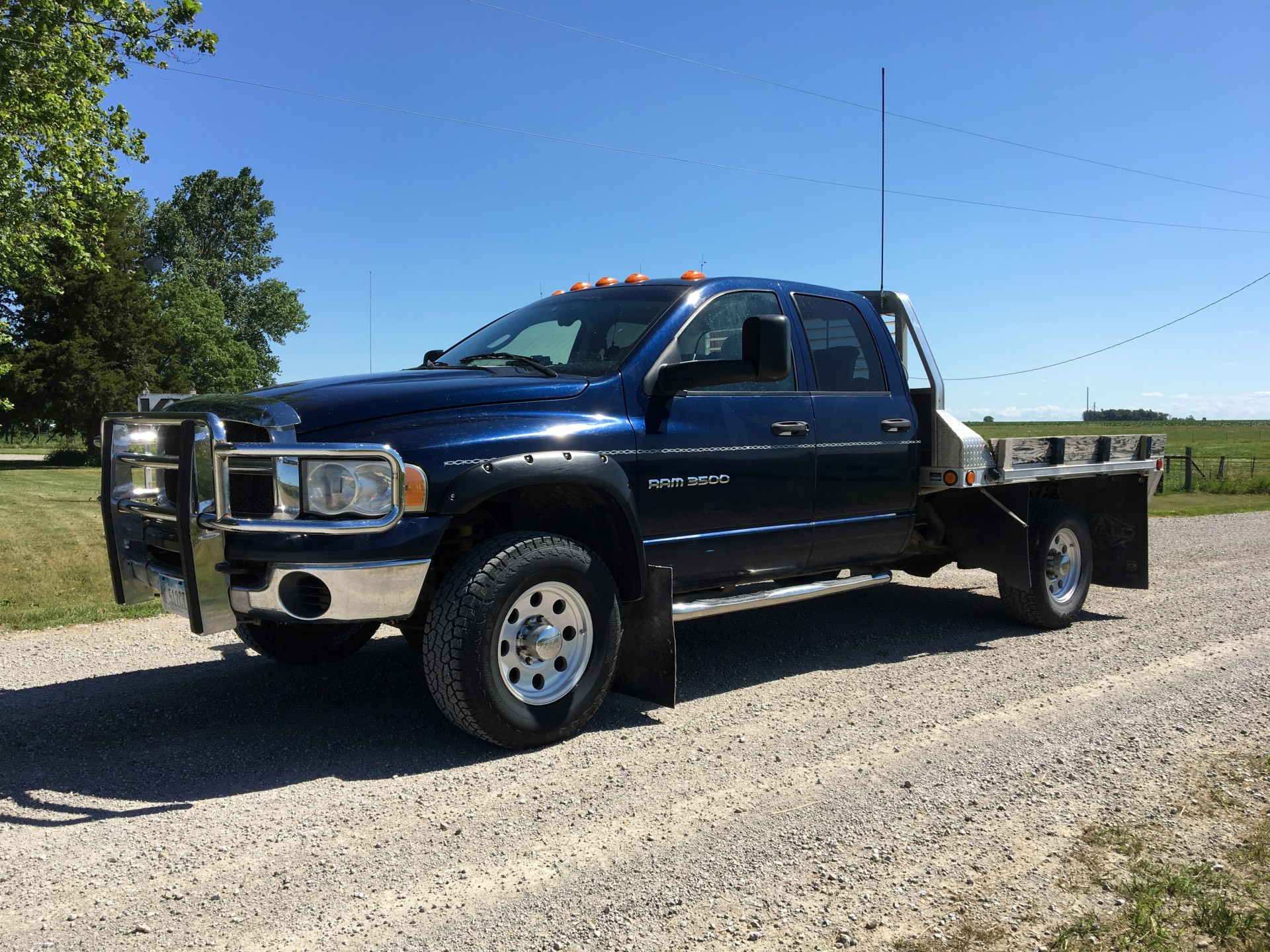 2005 Dodge Ram 3500 4x4 4 Door Srw 5 9 Cummins 6 Speed Manual Alum Flatbed