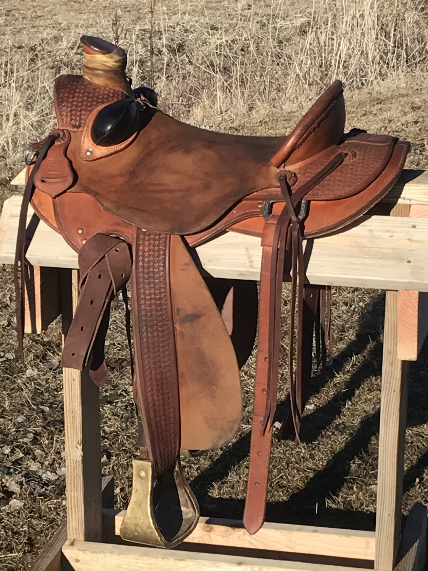 16 Inch Hank Moss Wade Saddle For Sale