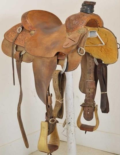 "Used 15"" Cactus Saddlery Ranch Roping Saddle"