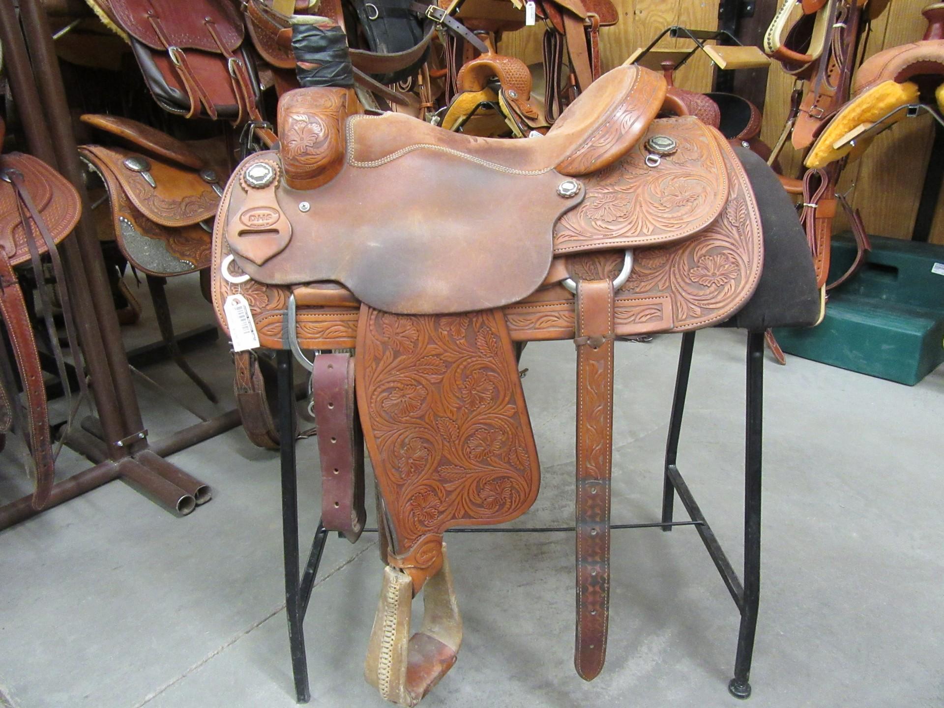 Used Dhs Team Roper Saddle