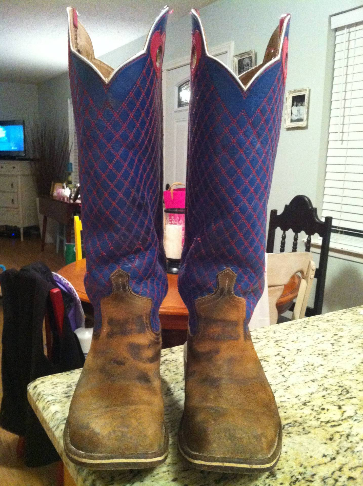 Pair Of 10 1 2d Handmade Bustamante Boots For Sale
