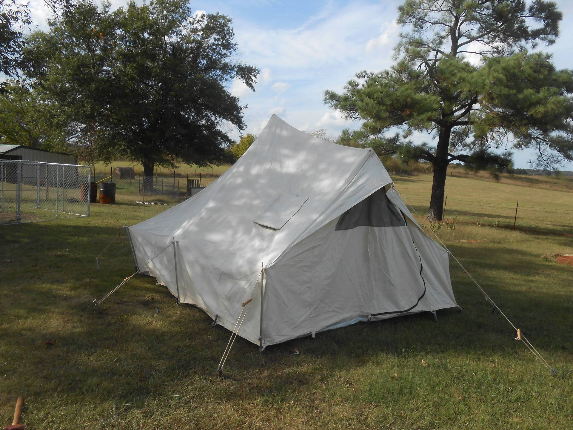 click to view fullsize image & Mountain Spike tent Reliable tent co w/Stove